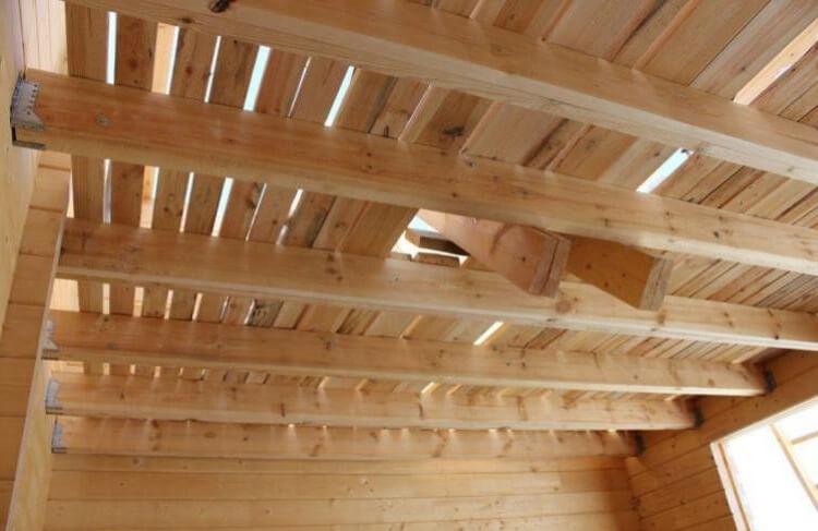 Потолок и перекрытия в бане