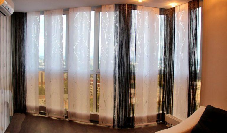 Японские шторы — восточное настроение в дизайне интерьера